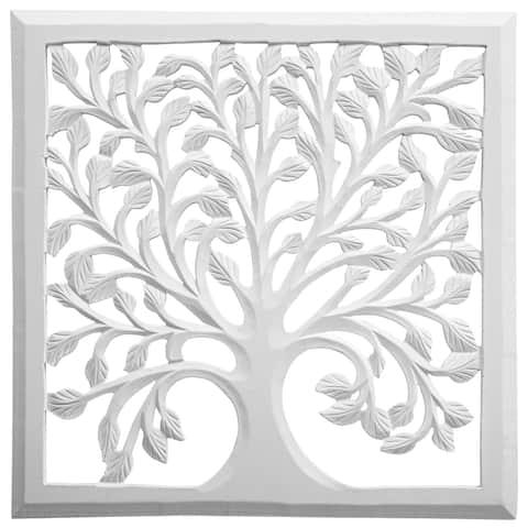 Solaris Thirty-two White Tree of Life Wall Art
