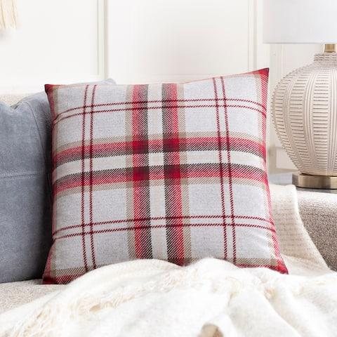 Kip Classic Plaid Knit 20-inch Throw Pillow