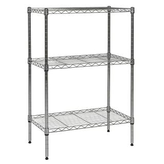 "Apollo Hardware Chrome 3-Shelf Wire Shelving 14""x24""x36"" (CHROME)"