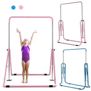 Costway Expandable Gymnastics Training Bar Adjustable Junior