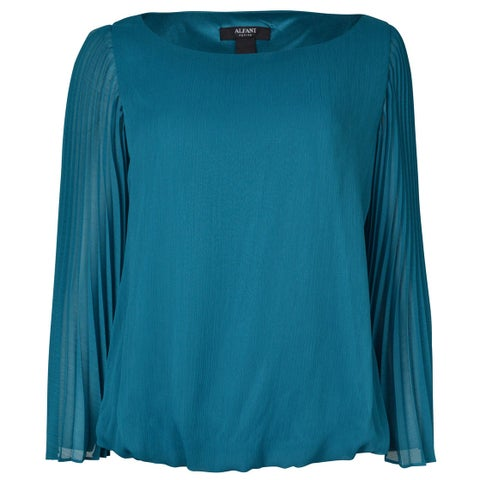 Alfani Women's Pleated Angel Bubble Blouse - 8
