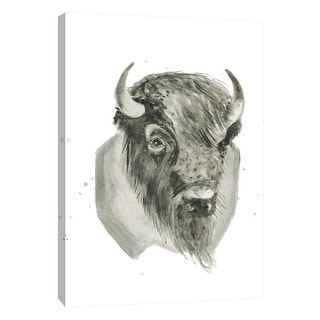 "PTM Images 9-105447  PTM Canvas Collection 10"" x 8"" - ""Bison Bust"" Giclee Buffalo Art Print on Canvas"
