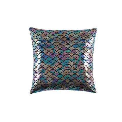 """Material Girl Mermaid Ombre 18x18"""" Decorative Pillow - 18x18"""