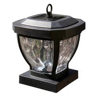 "Classy Caps SL994 Manchester 1-Light 6-1/2"" High Integrated LED Outdoor Post Light - Dark bronze - n/a"