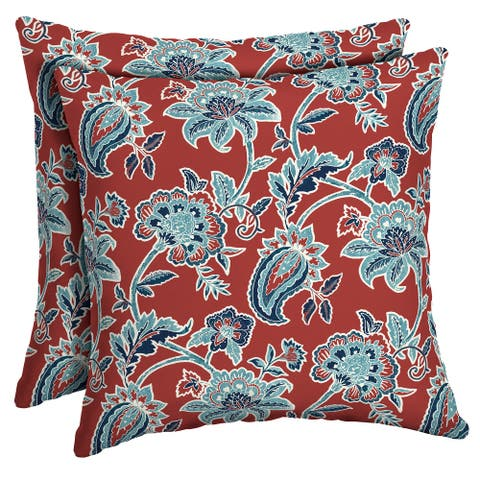 Arden Selections Caspian Outdoor Square Pillow 2-Pack - 16 in L x 16 in W x 5 in H