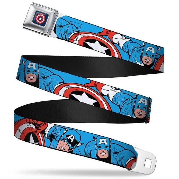 Marvel Comics captain America Shield Full Color Navy Captain America In Seatbelt Belt