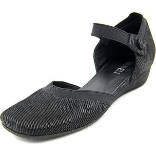 Vaneli Grania Women N/S Square Toe Suede Black Flats