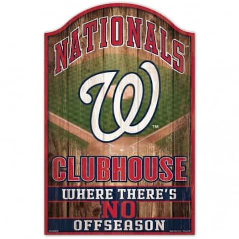 "Washington Nationals Sign 11x17 Wood Fan Cave Design - 11""x17"""