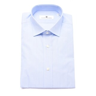 Pierre Balmain Men Slim Fit Cotton Dress Shirt Light Blue White Micro-Stripes (4 options available)