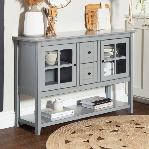 Middlebrook Designs 52-inch Buffet Cabinet TV Console. Opens flyout.