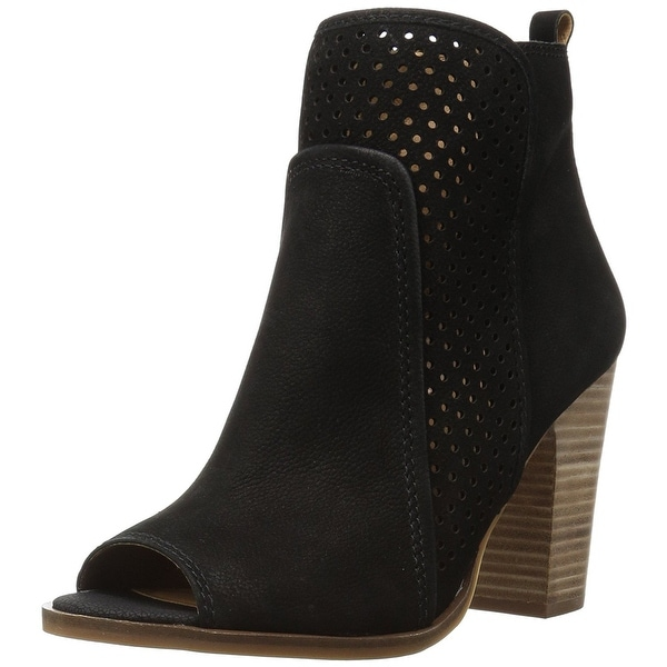 Lucky Brand Womens LK-Lakmeh NuBuck Peep Toe Ankle Fashion Boots