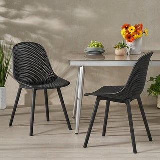"""Link to Posey Outdoor Modern Dining Chair (Set of 2) by Christopher Knight Home - 18.50"""" W x 22.50"""" L x 33.00"""" H Similar Items in Dining Room & Bar Furniture"""
