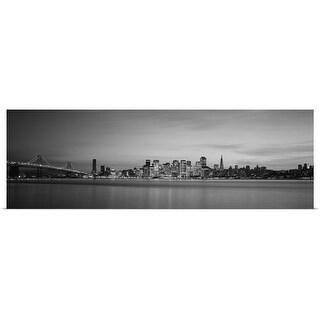 """Bay Bridge, San Francisco Bay, San Francisco, California"" Poster Print"