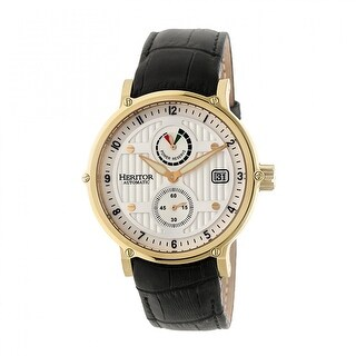 Heritor Leopold Men's Automatic Watch, Genuine Leather Band, Sapphire-Coated Crystal