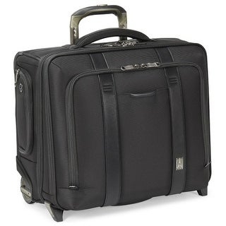 "Travelpro Executive Choice 2-Black 17"" Checkpoint Friendly Wheeled Briefcase w/ RFID Blocking Pocket"