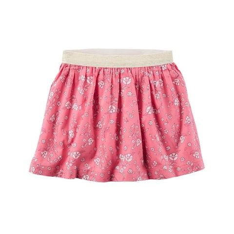 Carter's Baby Girls' Pink Floral Metallic Skirt, 18 Months