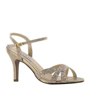 Embellished Mid-Heel Ankle Strap Sandal