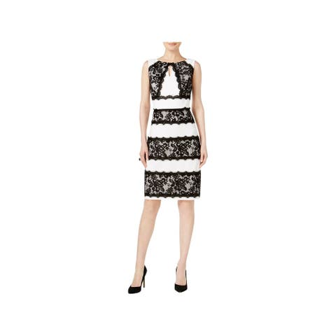 Sangria Womens Special Occasion Dress Keyhole Lace