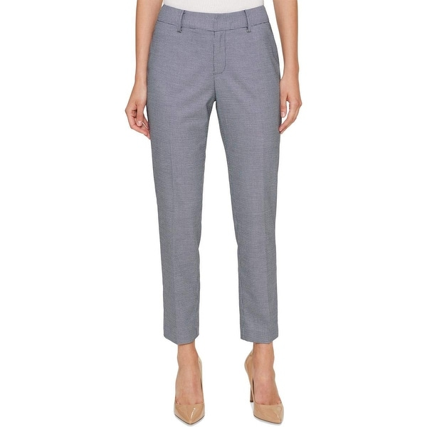 f33d61480 Shop Tommy Hilfiger Blue Womens Size 12 Houndstooth Ankle Dress Pants - On  Sale - Free Shipping On Orders Over $45 - Overstock - 27080734