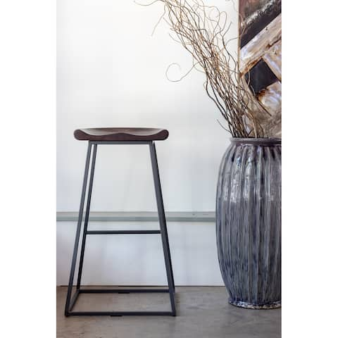 Aurelle Home Solid Industrial Stools (Set of 2)