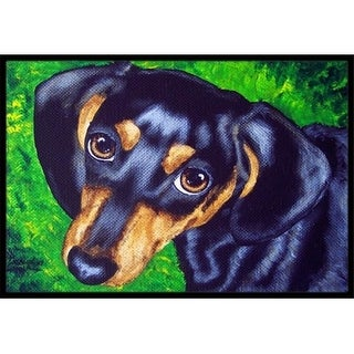 Carolines Treasures AMB1173MAT Tootsie Dachshund Indoor or Outdoor Mat 18 x 27
