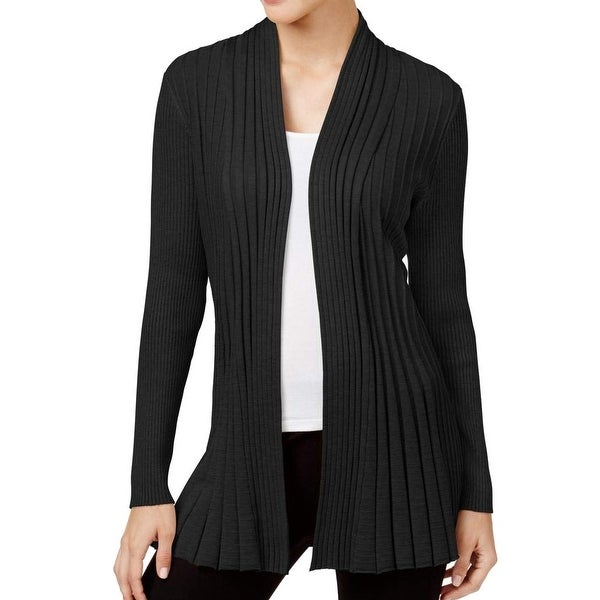 4c71a9fe3789 Shop NY Collection Black Womens Size XL Open Front Cardigan Sweater - On  Sale - Free Shipping On Orders Over  45 - Overstock - 27287171