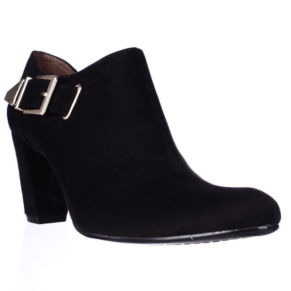 Aerosoles Effortless Buckle Ankle Booties, Black