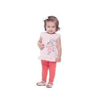 Pulla Bulla Baby Girl Shirt Short Sleeve Graphic Tee Newborn 3-12 Months