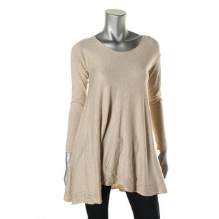 Studio M Womens Knit Perforated Casual Top - XL