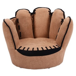 Costway Kids Sofa Five Finger Armrest Chair Couch Children Living Room Toddler Gift - Brown