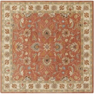 Surya CAE1124-4SQ Caesar 4' Square Wool Hand Tufted Traditional Area Rug