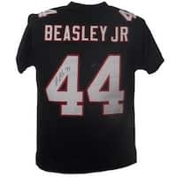 Vic Beasley Autographed Atlanta Falcons Custom Size XL Black Jersey JSA