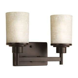 Miseno MLIT-11047-BH2 Elysa 2-Light Bathroom Vanity Light - Reversible Mounting Option - Antique Bronze - n/a