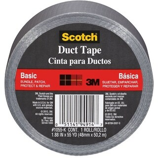 """Scotch 1055 Basic Duct Tape, 1.88"""" x 55 yard"""