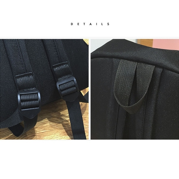c375bd7ff1 Women Girl Fashion Love Print Preppy Style School Bag Travel Backpack Bag +Wallet