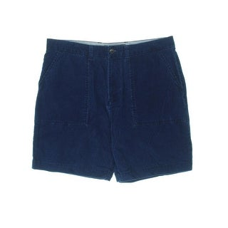 Tommy Hilfiger Mens Corduroy Flat Front Casual Shorts
