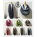 Women's fashion lightweight infinity scarf loops 12-pack - Large - Thumbnail 1