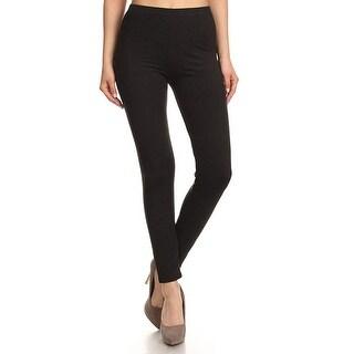 NioBe Clothing Womens High Waist Solid Basic Soft Leggings