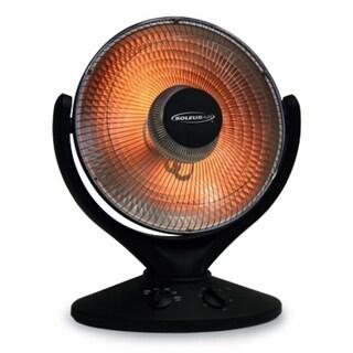 Soleus HE08-R9-21 Oscillating Reflective Room Heater - Black