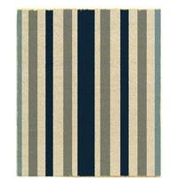 "J & M Home Fashions 4290 Blue Stripe Coir Floor Mat, 18"" X 30"""