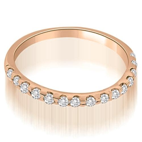 0.17 cttw. 14K Rose Gold Petite Round Cut Diamond Wedding Band