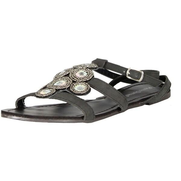 Pierre Dumas Womens Fashion Strappy Flat Sandals