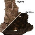 Sunnydaze Lighted Stone Springs Outdoor Water Fountain with LED Lights, 41.5 Inc - Thumbnail 7