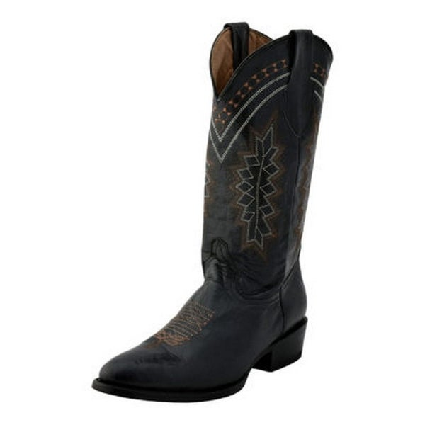 Ferrini Western Boots Mens Apache Round Cowboy Heel Pull Straps