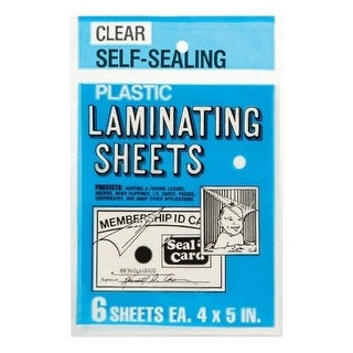 Seal-A-Card 64521 4 x 5 in. Laminating Plastic Sheets - pack of 24