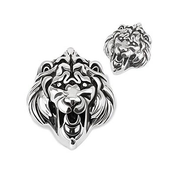 Roaring Lion Head Stainless Steel Pendant (25 mm Width)