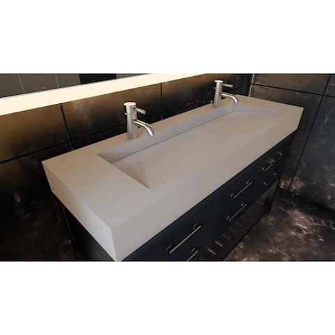 """Pyramid 60"""" Solid Surface Bathroom Vanity Top"""