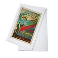 Thurston's The Vanishing Whippet - Vintage Ad (100% Cotton Towel Absorbent)