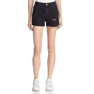 Guess Womens Denim Shorts Denim Destroyed
