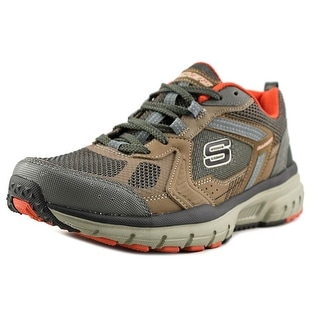 Skechers Geo-Trek-Pro Force Men  Round Toe Canvas Brown Sneakers